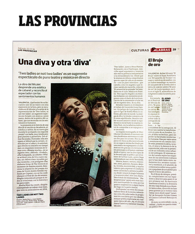 Two Ladies or not Two Ladies - Crítica - Las Provincias